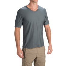 ExOfficio Give-N-Go® T-Shirt - V-Neck, Short Sleeve (For Men) in Charcoal - Closeouts