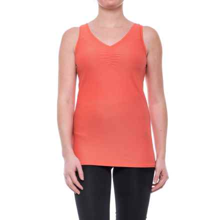 ExOfficio Give-N-Go V-Neck Tank Top (For Women) in Hot Coral - Closeouts