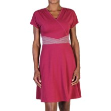 ExOfficio Go-To Cross-Front Dress - Short Sleeve (For Women) in Mod - Closeouts