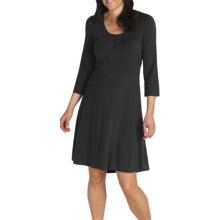 ExOfficio Go-To Dri-Release® Dress - Stretch Jersey, 3/4 Sleeve (For Women) in Black - Closeouts