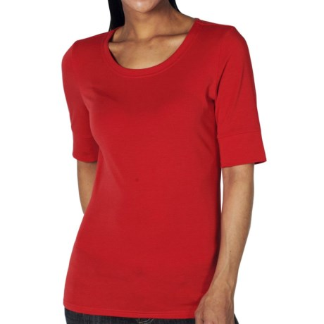 ExOfficio Go-To Shirt - Crew, Elbow Sleeve (For Women) in Rose Hip