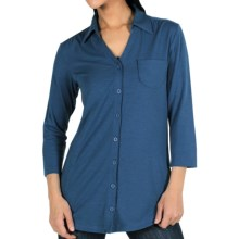 ExOfficio Go-To Shirtigan - 3/4 Sleeve (For Women) in Ensign - Closeouts