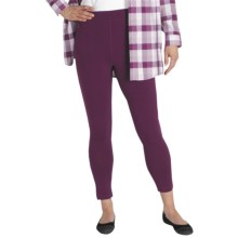 ExOfficio Go-To Stretch Jersey Leggings - Dri-Release®, FreshGuard® (For Women) in Plum - Closeouts