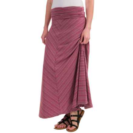 ExOfficio Go-To Stripe Maxi Skirt - Long (For Women) in Mod/Cement - Closeouts
