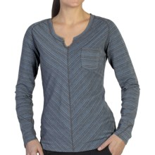 ExOfficio Go-To Stripe Shirt - Long Sleeve (For Women) in Dusk/Dark Charcoal - Closeouts