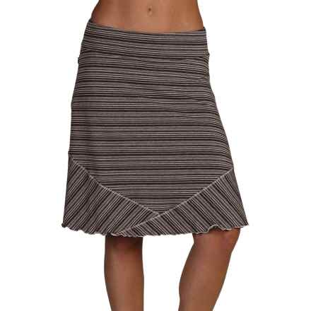 ExOfficio Go-To Stripe Skirt (For Women) in Black/Cement - Closeouts
