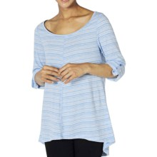 ExOfficio Go-To Stripe Tunic Shirt - Dri-Release®, 3/4 Sleeve (For Women) in South Pacific/Winter White - Closeouts