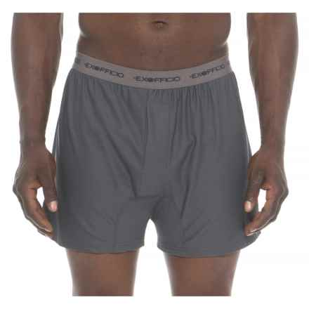 ExOfficio Granite Grey Give-N-Go® Boxer Briefs (For Men) in Granite/Grey - Closeouts