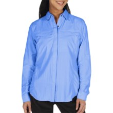 ExOfficio Halo Insect Shield® Shirt - Long Sleeve (For Women) in Light Lapis - Closeouts