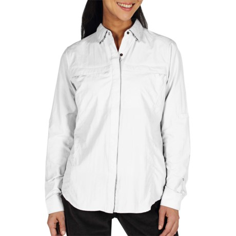 ExOfficio Halo Insect Shield® Shirt - Long Sleeve (For Women) in White