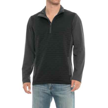 ExOfficio Harwood Jacket - Zip Neck (For Men) in Black - Closeouts