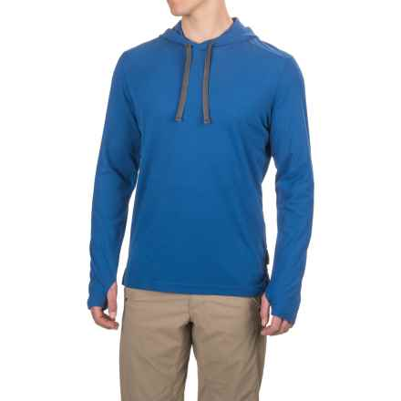 ExOfficio Insect Shield® BugsAway® Lumos Hoodie - Cotton Blend (For Men) in Prussian - Closeouts