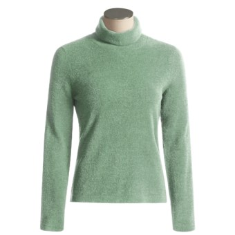 ExOfficio Irresistible Chenille Feather Fleece Turtle Neck Long Sleeve Shirt (For Women) in Seaglass