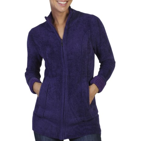ExOfficio Irresistible Dolce Cardigan Sweater - Zip Front (For Women) in Dark Verbena