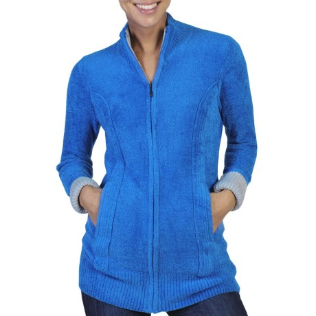 ExOfficio Irresistible Dolce Cardigan Sweater - Zip Front (For Women) in Dark Verbena