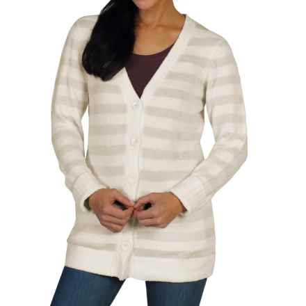 ExOfficio Irresistible Dolce Stripe Cardigan Sweater (For Women) in Vellum - Closeouts