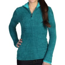 ExOfficio Irresistible Dolce Sweater - Zip Neck (For Women) in Aquatic - Closeouts
