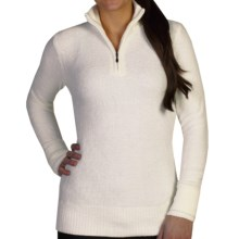 ExOfficio Irresistible Dolce Sweater - Zip Neck (For Women) in Vellum - Closeouts