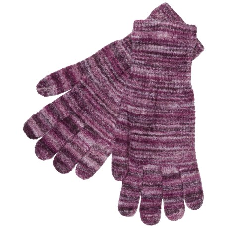 ExOfficio Irresistible Neska Stripe Gloves (For Women) in Dark Pebble