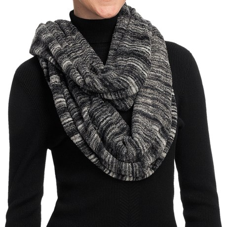 ExOfficio Irresistible Neska Stripe Infinity Scarf (For Women) in Dark Pebble