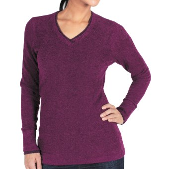 ExOfficio Irresistible Neska Sweater - V-Neck (For Women) in Plum