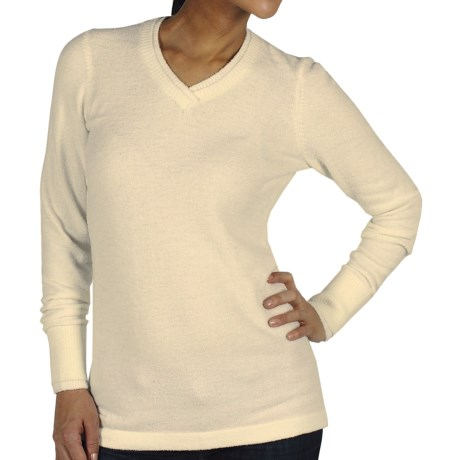 ExOfficio Irresistible Neska Sweater - V-Neck (For Women) in Winter White