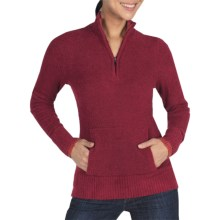 ExOfficio Irresistible Neska Sweater - Zip Neck (For Women) in Dark Brick - Closeouts