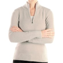 ExOfficio Irresistible Sweater - Zip Neck (For Women) in Stone - Closeouts