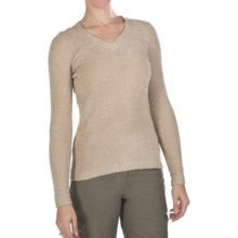 ExOfficio Irresistible V-Neck Shirt - Long Sleeve (For Women) in Stone - Closeouts