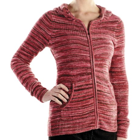 ExOfficio Irresistible Zip Hoodie - Neska Stripe (For Women) in Pomegranate