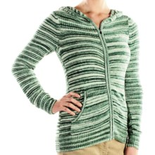 ExOfficio Irresistible Zip Hoodie Sweatshirt - Neska Stripe (For Women) in Seaglass - Closeouts