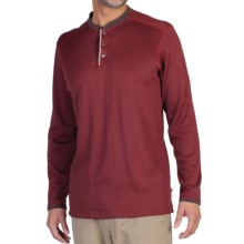 ExOfficio Isoclime Thermal Henley Shirt - UPF 20+, Long Sleeve (For Men) in Tango/Coffee - Closeouts