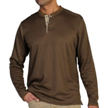 ExOfficio Isoclime Thermal Henley Shirt - UPF 20+, Long Sleeve (For Men) in Tough/Fig - Closeouts