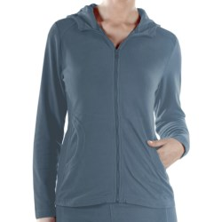 ExOfficio Jandiggity Fleece Hoodie (For Women) in Steel