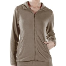 ExOfficio Jandiggity Fleece Hoodie Sweatshirt (For Women) in Granite - Closeouts