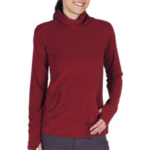 ExOfficio Jandiggity Fleece Pullover - Long Sleeve (For Women) in Dark Brick - Closeouts