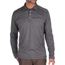 ExOfficio Javano Polo Shirt - UPF 15+, Long Sleeve (For Men) in Black - Closeouts