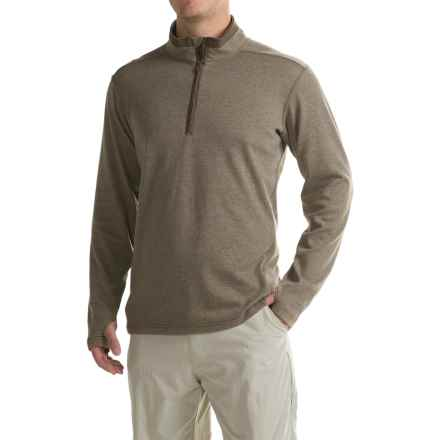 ExOfficio Javano Shirt - UPF 15+, Zip Neck, Long Sleeve (For Men) in Cinder - Closeouts