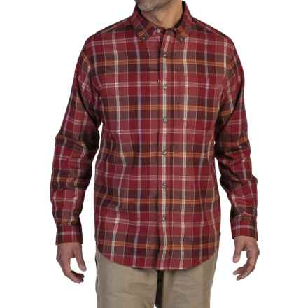 ExOfficio Kegon Flannel Shirt - Long Sleeve (For Men) in Tango - Closeouts