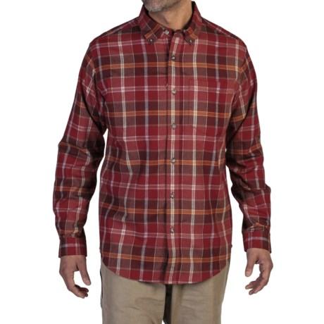 ExOfficio Kegon Flannel Shirt - Long Sleeve (For Men) in Tango