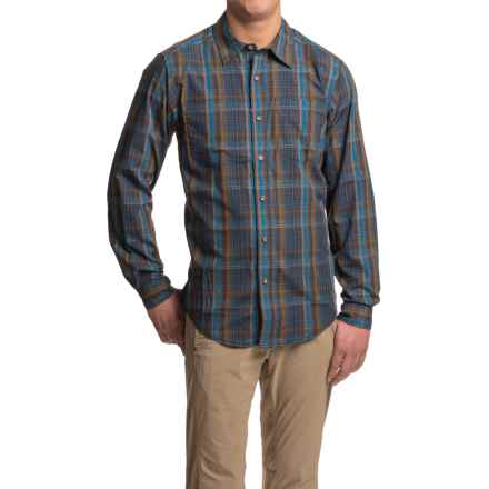 ExOfficio Kelion Plaid Shirt - Long Sleeve (For Men) in Navy - Closeouts