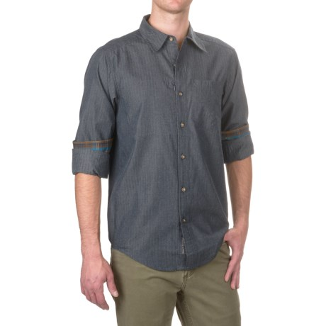 ExOfficio Kelion Shirt - Long Sleeve (For Men) in Navy