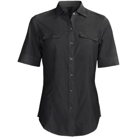 ExOfficio Kizmet Camper Shirt - UPF 50+, Short Sleeve (For Women) in Black