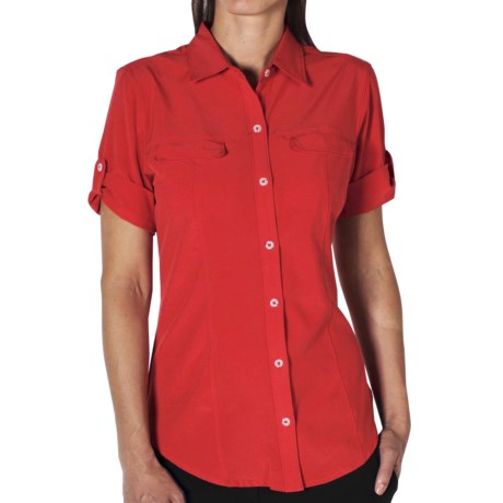 ExOfficio Kizmet Camper Shirt - UPF 50+, Short Sleeve (For Women) in Rose Hip