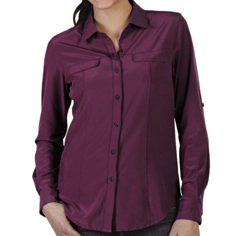ExOfficio Kizmet Stretch Camper Shirt - UPF 50+, Button Front, Long Sleeve (For Women) in Baroque