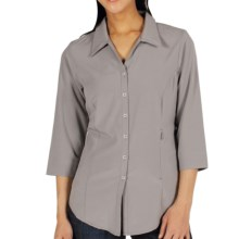 ExOfficio Kizmet Traveler Shirt - UPF 50+, 3/4 Sleeve (For Women) in Cement - Closeouts