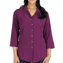 ExOfficio Kizmet Traveler Shirt - UPF 50+, 3/4 Sleeve (For Women) in Plum - Closeouts