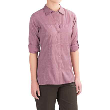 ExOfficio Lightscape Digi-Stripe Shirt - UPF 30, Long Sleeve (For Women) in Mulberry - Closeouts