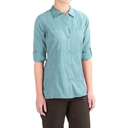 ExOfficio Lightscape Digi-Stripe Shirt - UPF 30, Long Sleeve (For Women) in Niagara - Closeouts