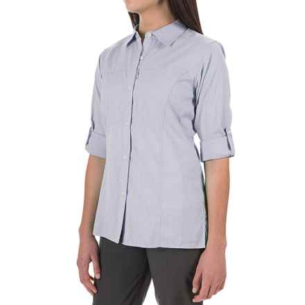 ExOfficio Lightscape Digi-Stripe Shirt - UPF 30, Long Sleeve (For Women) in Viola - Closeouts